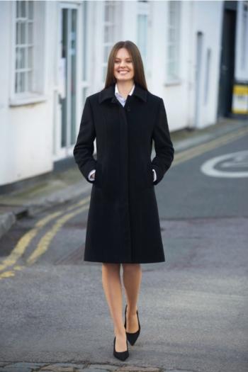 Berufsbekleidung Bestattungsinstitut Damenmantel in schwarz