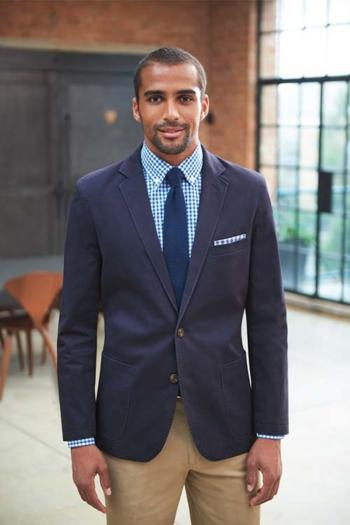 Berufsbekleidung Rezeption Business Casual Chino Blazer in dunkelblau