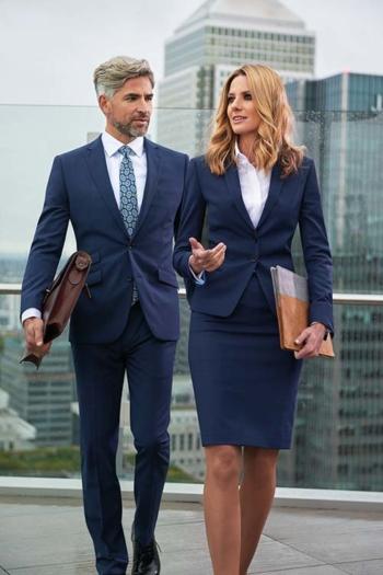 Hotel Uniform Business dunkelblauer Anzug und Kostüm