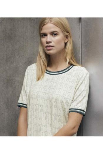 Berufsbekleidung Beauty und Wellness elegante Damen kurzarm Bluse mit Aufdruck CLI-2676