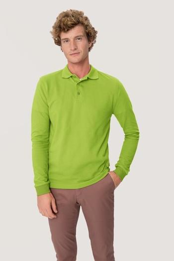 Berufsbekleidung Physiotherapie langärmeliges Poloshirt in kiwi HAK815
