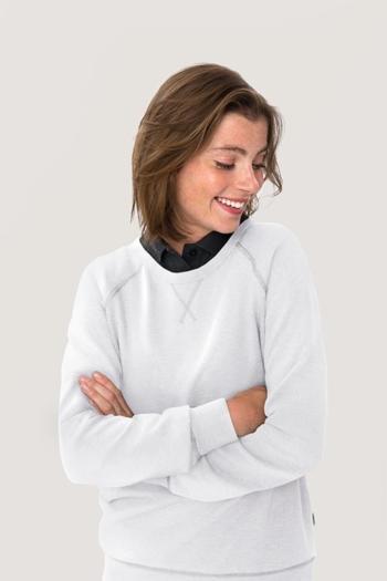 Berufsbekleidung Physiotherapie Damen Raglan Sweatshirt in weiß HAK407