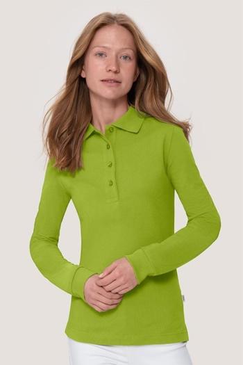Berufsbekleidung Physiotherapie langärmeliges Damen Poloshirt in kiwi HAK215