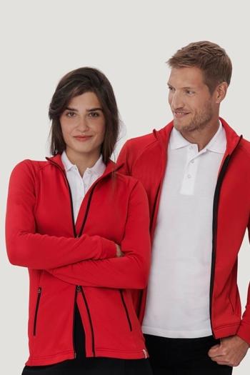 Berufsbekleidung Büro sportliche TECJACKE in rot HAK207/807