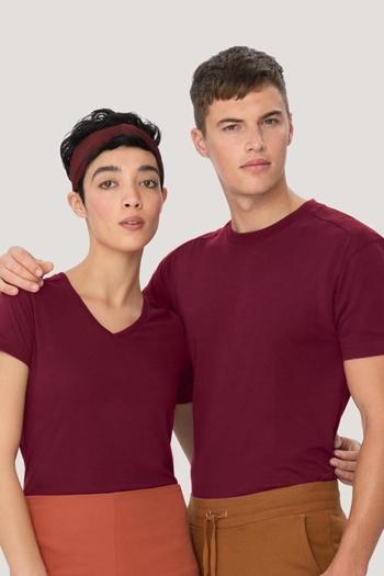 Berufsbekleidung Physiotherapie extrem strapazierfähiges, kochfestes, chlorechtes T-Shirt in weinrot HAK182/282