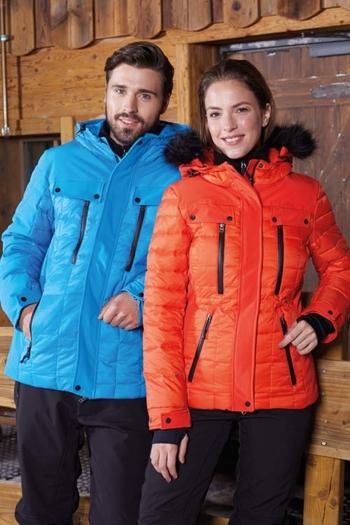 Daunenjacke mit Firmenlogo Wintersteppjacke in verschiedenen Farben JN1102/1101