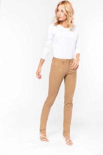Berufsbekleidung Beauty und Wellness Damen Chinohose in beige K741
