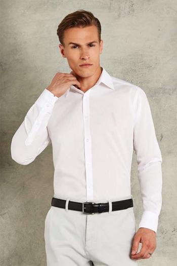 Hemden und Blusen langärmeliges weißes Hemd KK192
