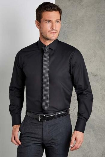 Hemd und Bluse mit Stickerei langärmeliges schwarzes Hemd KK131