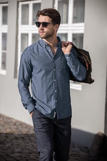 Hemden und Blusen LUXURY CHAMBRAY SHIRT Saint Andrews in blue