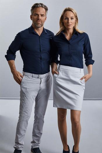 Hemden und Blusen langärmelige dunkelblaue Bluse und Hemd Z960