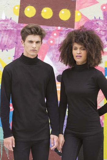 Berufsbekleidung Rezeption dünner Rollkragen Pullover in schwarz SF125