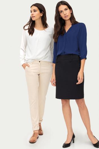 Berufsbekleidung Büro Chiffonblusen in verschiedenen Styles und Farben GR-6576