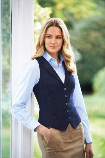 Corporate Fashion Business Casual Tweedweste in dunkelblau