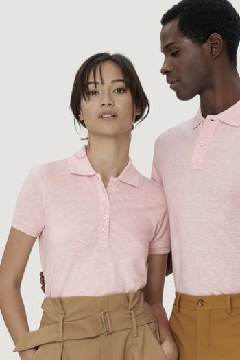 Berufsbekleidung Beauty und Wellness Damen und Herren Poloshirt in rosa