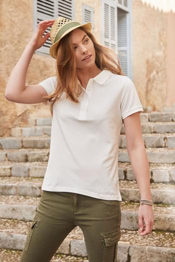 Bio, Recycling und Fairtrade klassisches Damen Poloshirt aus 100% gekämmter, ringgesponnener BIO-Baumwolle JN-8009