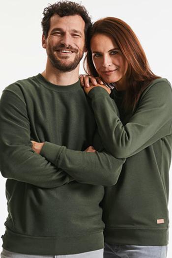 Mitarbeiterbekleidung Unisex Sweatshirts aus Biobaumwolle in verschiedenen Farben Z208