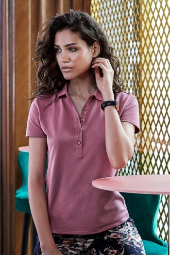 Berufsbekleidung Beauty und Wellness Damen Luxury Stretch Polo in rose TJ145