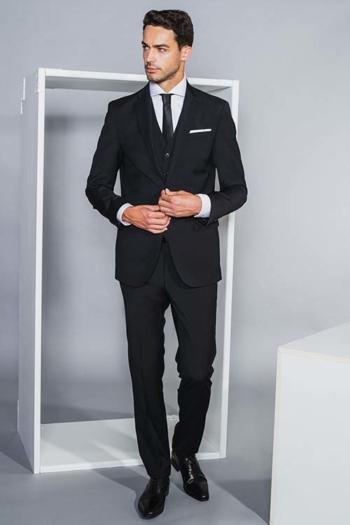 Corporate Fashion Sakko DH-15295 und Hose DH-25295 Modern Fit in schwarz