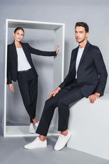 Berufsbekleidung Hotel legerer Jersey Sakko DH-15797 und Blazer DH-30960 mit elastischen Jeans DH-41100/26090