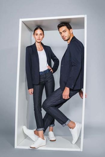 Berufsbekleidung Büro legerer Jersey Sakko DH-15797 und Blazer DH-30960 mit elastischen Jeans DH-41100/26090