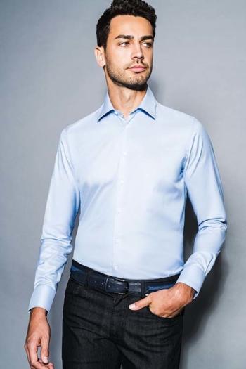 Hemden und Blusen Hemd mit Kent Kragen in 3 verschiedenen Passformen und Farben DH-60617-1