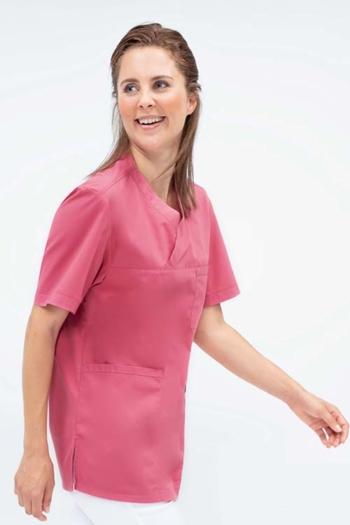 Berufsbekleidung Beauty und Wellness UNISEX-SCHLUPFKASACK in mattrosa GR-5007