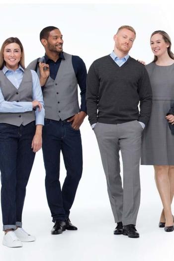 Berufsbekleidung Rezeption Casual Business Wear in Grautönen