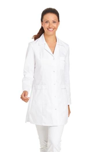 Berufsbekleidung Labor langer Damenkasack in weiß LB-08/2434