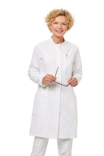 Berufsbekleidung Labor Damenmantel langarm mit verdeckter Knopfleiste LB-08/1339