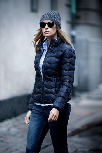 Jacken besticken moderne Damen Daunenjacke Sierra in midnight blue
