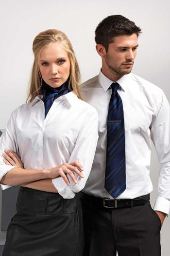 Berufsbekleidung Verkehrsbetriebe Accessoires gestreifte Krawatte und Tuch mit weißer Bluse und Hemd