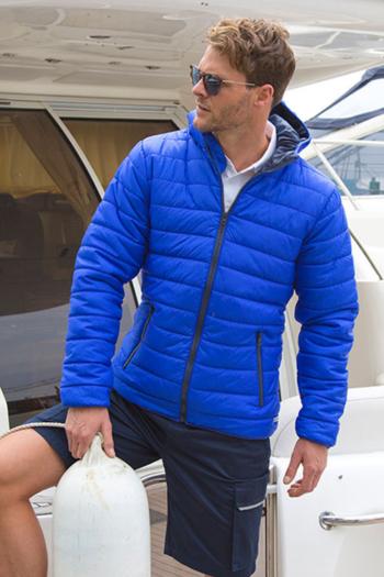 Jacken besticken Mens Snow Bird Hooded Jacket mit farbigen Kontrasten RT194