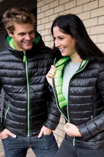 Jacken besticken moderne Unisex Daunenjacke mit farbigen Kontrasten RT233
