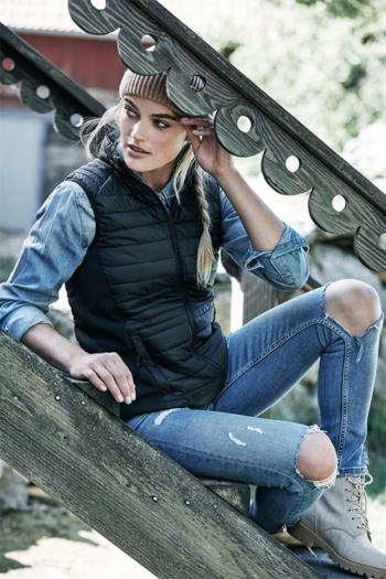 Jacken besticken Damen Crossover Bodywarmer winddicht und wasserabweisend TJ9625