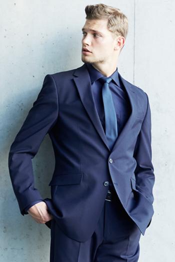 Krawatten und Halstücher breite Polyester Krawatte in blau GR-6900