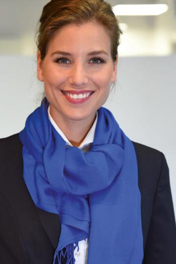 Berufsbekleidung Verkehrsbetriebe Accessoires royalblauer Damenschal