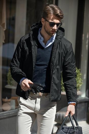 Nimbus Jacke hochtechnische Herren Winterjacke Fairview mit einer Sorona® Wattierung in schwarz