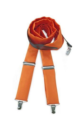 Eventbekleidung Hosenträger in orange aus Polyester Repp JBBR607