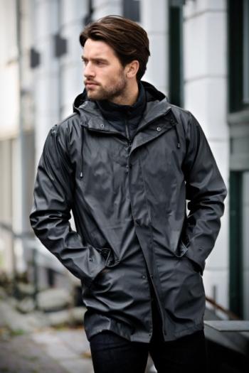 Berufsbekleidung Verkehrsbetriebe hochwertiger Regenmantel Huntington in charcoal für Herren