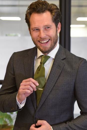 Krawatten und Halstücher Polyester Krawatte JB610 in olivgrün