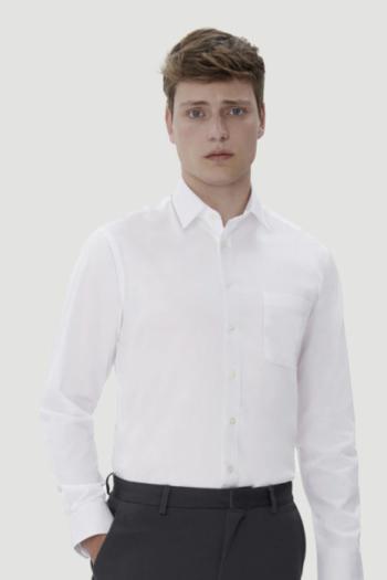 HAKRO Arbeitskleidung klassisches langärmeliges Business Comfort Hemd mit Kent Kragen HAK108