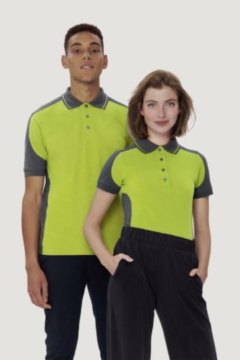 HAKRO Arbeitskleidung strapazierfähiges Poloshirt mit kontrastfarbigen Einsätzen HAK239/839