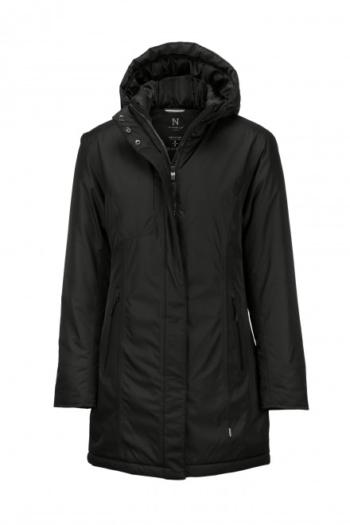 Nimbus Jacke extra lange Winterjacke Mapleton im skandinavisch inspiriertem Design in schwarz