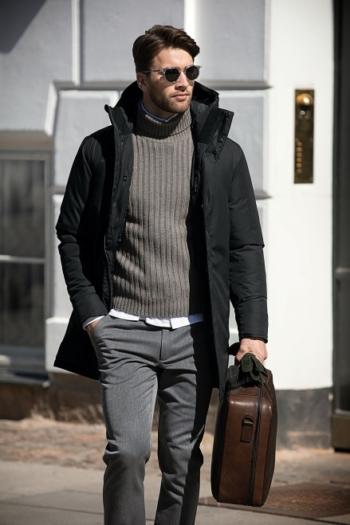 Nimbus Jacke extra lange Herren Winterjacke Mapleton im skandinavisch inspiriertem Design in schwarz
