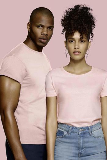 Mitarbeiterbekleidung Rundhals T-Shirts in rosa