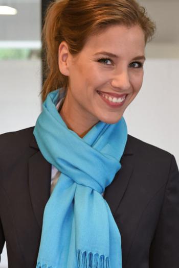 Krawatten und Halstücher Polyester Viscose Pashmina Schal PA222 in türkis