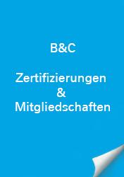 B&C Zertifizierungen & Mitgliedschaft