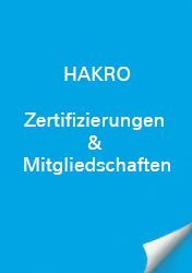HAKRO Zertifizierungen & Mitgliedschaft