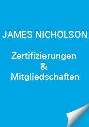 James Nicholson Zertifizierungen & Mitgliedschaft